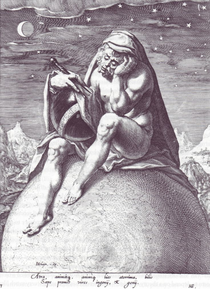 Jacques de Gheyn: Saturn as Melancholy
